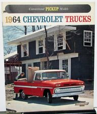 1964 chevrolet conventional c10 c20 c30 pickup truck sales brochure original