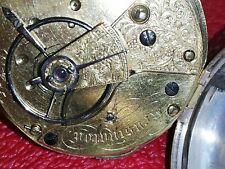 Sehr schöne alte SILBER SCHLÜSSELTASCHENUHR TASCHENUHR ENGLAND + Schlüssel