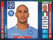 466 PAOLO CANNAVARO ITALIA SSC NAPOLI STICKER CHAMPIONS LEAGUE 2014 PANINI