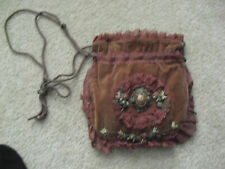 Vintage Chimaki Embroidered and Lace Ladies Pocket Bag