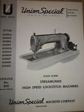 Union Special 61400 Lock Stitch Manual Dated 1955 Free Shipping