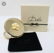 DOLCE & GABANNA DOUBLE SIDED MAKE - UP/compact MIRROR GOLD 100%Authentic RRP £85