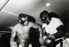 PHOTO BOXE VINTAGE : MUHAMMAD ALI sparring training 1971 Cassius Clay GSP 01