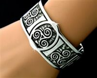 Pewter Celtic Triskele Cuff Bracelet