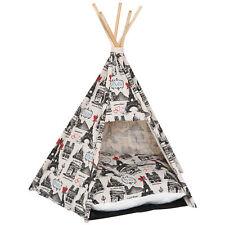 PawHut  Tenda Cuccia Teepee per Cani e Gatti in Tela di Cotone Robusta
