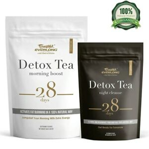 28 Days Evening & Morning Detox Burning Fat Colon Cleanse Flat Belly Natural