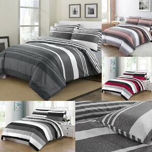 Grey Duvet Cover 100% Egyptian Cotton Quilt Covers Bedding Set Double King Size