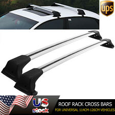 Universal 114cm-126cm Roof Rack Cross Bars Set Kayak Carrier & Lock System Pair