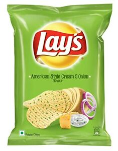 6X60g Lays American Style Sour Cream and Onion Potato Chips / Crisps