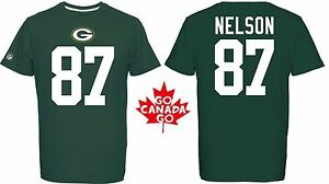 NFL T-Shirt Green Bay Packers Jordy Nelson 87 Redburn Football Jersey