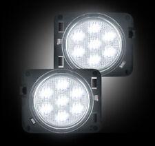 Recon 264135WHCL Chrome LED Side Marker Lights for 07-17 Jeep Wrangler