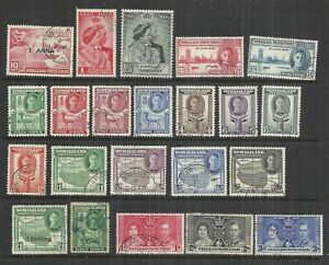 (W311) Somaliland – George 6th Used Selection to 5 Rupees
