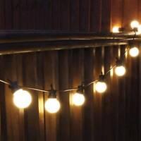 42.9FT LED G50 10/20 Blub Outdoor Globe String Festoon Light Garden christmas