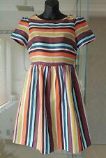 Gorman Funky Colourful Striped Pattern Skater A-line Rockabilly Funky Dress