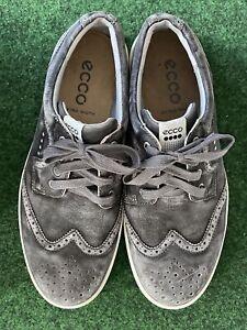 Ecco Suede Hybrid II Gray Spikeless Golf Shoes Men's Sz 11.5 / 45 EU Extra Wide