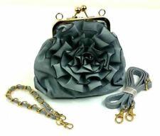 Floral Rose Wedding Clutch Bag Ladies Evening Quality Rosette Bridesmaid Bags