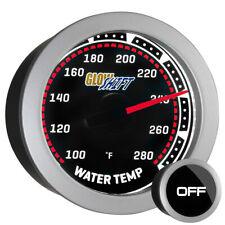 52mm GlowShift Electronic Water Temp 100 - 280°F Meter Kit w Tinted Gauge Face