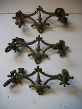 Set of 3 Vintage Metal Dresser Pulls Plates- 10