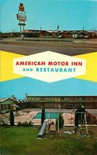 Roadside Postcard American Motor Inn & Restaurant, Lordsburg, New Mexico