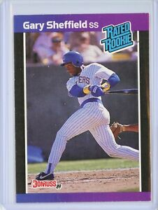 1989 Donruss #31 GARY SHEFFIELD Rookie RC (Brewers)
