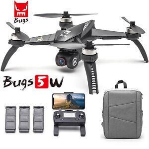 MJX Bugs 5W B5W Drone 4K Camera 5G Wifi FPV Quadcopter GPS Track Flight RTF New