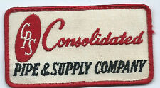 Consolidated Pipe & Supply Co Birmingham AL advertising patch2-1/2 X 4-1/2 #516
