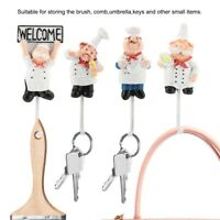 Kitchen Hanger Cartoon Chef Hook Powerful Adhesive Hanger Wall Storage Rack
