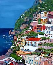 Positano ITALY Original Art PAINTING Artist DAN BYL Acrylic Huge 60 inches x 48