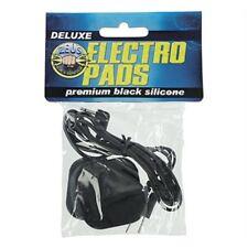 Zeus Electrosex Black Adhesive Silicone Stimulation eStim Electro Pads Pair, New