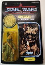 Vintage Star Wars Kenner PotF TEEBO EWOK Unpunched 92 Back MOC W/Collector Coin