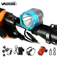 5000Lm Bicycle Front Rear Light Bike Headlamp 3 Modes Rechargeable Waterproof