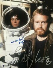 Ridley Scott Sigourney Weaver signed autographed 11x14 photo Alien Beckett Coa