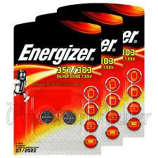 6 x Energizer 357/303 batteries Sillver oxide SR44 SR1154SW SR1154W EXP76 1.55V