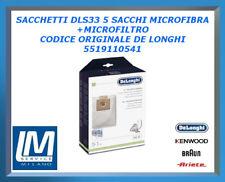 SACCHETTI DLS33 5 SACCHI MICROFIBRA+MICROFILTRO 5519110541 DE LONGHI ORIGINALE