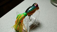 """Arbogast,""""Hula Popper"""" Holographic Finish, 1 1/2""""Body, 2Prong Trlr Hook, Mint!"""