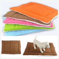 Washable Soft Warm Pet Dog Puppy Cat Cushion Kennel Cage Pad Bed Fleece Mat Nest
