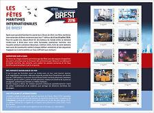 france 2016 Collector  Brest boat ships vessel bateaux navire marine 10v mnh **