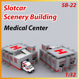 Slotcar Scenery Building Raceway Medical Center for scalexric, carrera track