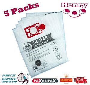 Numatic Henry Hetty Hoover Vacuum Cleaner Microfibre Dust Bags x 5