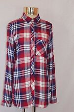 Women's Kenneth Cole REACTION Button Down Western Plaid Long Sleeved Shirt  (S)