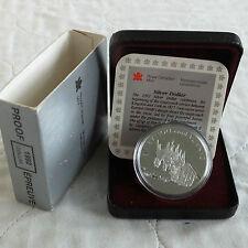 Canadá 1992 diligencia plata prueba dólar-Completo