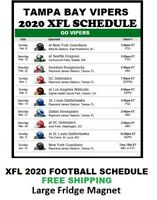 2020 Tampa Bay Vipers XFL Team Football Schedule