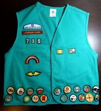 Girl Scouts Junior Aide Vest w/ Patches, 2000+, Size Large
