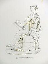 Gravure de Reveil d'ap. Canova - La princesse Léopoldine Esterhazy LIECHTENSTEIN