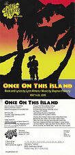 ONCE ON THIS ISLAND - A PLAY ADVERTISING COLOUR POSTCARD