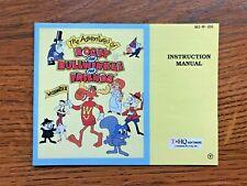 Adventures of Rocky and Bullwinkle Friends NES Nintendo Instruction Manual Only
