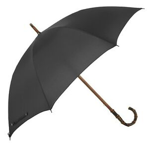 MARIO TALARICO Bamboo One-Piece Umbrella with Solid Black Canopy