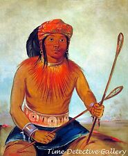 Tul-lock-ch-sh-ko, A Choctaw by George Catlin - 1834 - Native American Art Print