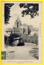 cpa 86 - VIVONNE en 1909 (Vienne) CHEVET de l'EGLISE CLOCHER Automobile Voiture