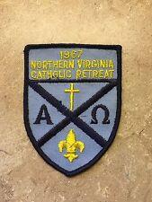 VINTAGE 1967 NORTHERN VIRGINIA  CATHOLIC RETREAT B.S.A. PATCH